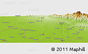 """Physical Panoramic Map of the area around 26°50'27""""N,85°55'30""""E"""