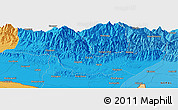 """Political Panoramic Map of the area around 26°50'27""""N,86°46'30""""E"""