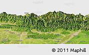 "Satellite Panoramic Map of the area around 26°50'27""N,86°46'30""E"