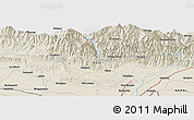 """Shaded Relief Panoramic Map of the area around 26°50'27""""N,86°46'30""""E"""