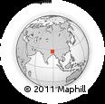 Outline Map of Mahananda Para, rectangular outline