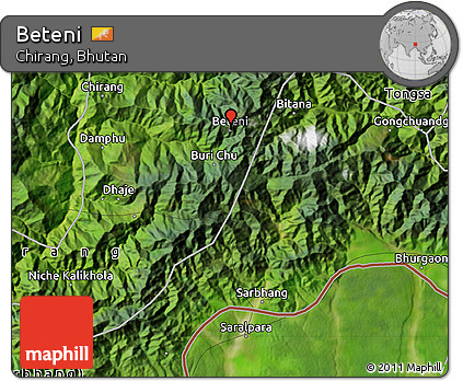 Free Satellite Map of Beteni