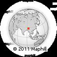 Outline Map of Majuli, rectangular outline