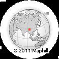 Outline Map of Ringhku, rectangular outline