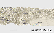 Shaded Relief Panoramic Map of Gedu Ga