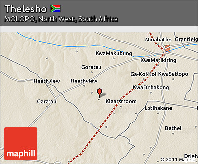 Free Shaded Relief 3D Map of Thelesho