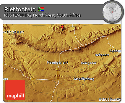 Free Physical 3D Map of Rietfontein