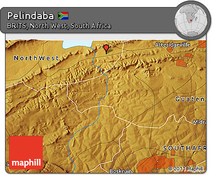 Free Physical 3D Map of Pelindaba