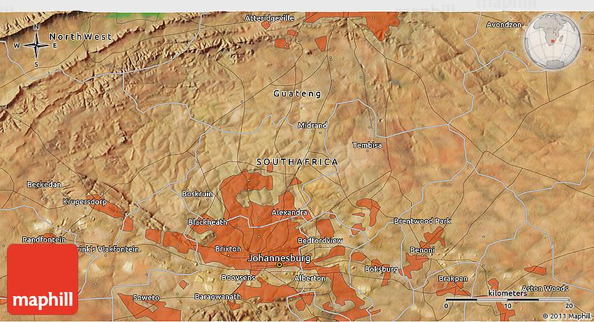 Satellite 3D Map of Tembisa