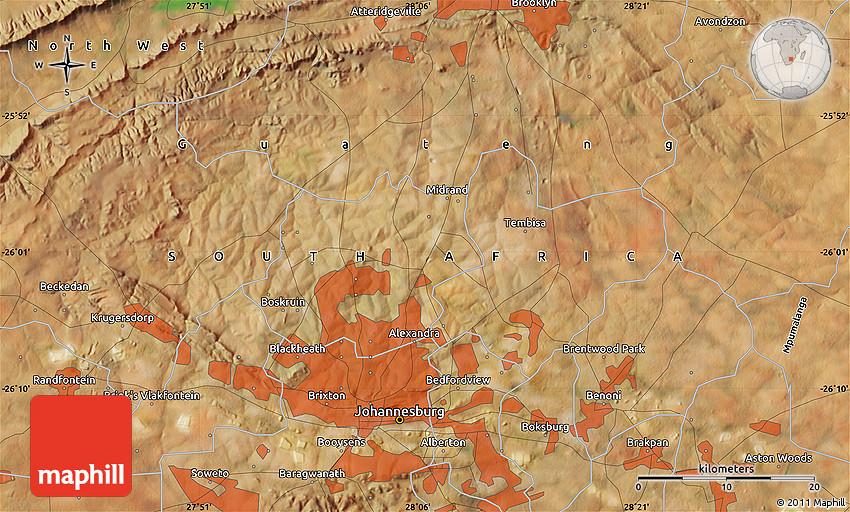 Satellite Map of Tembisa