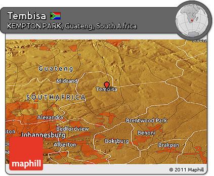 Free Physical Panoramic Map of Tembisa