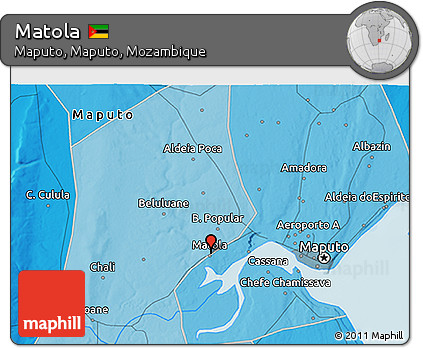 Free Political 3D Map of Matola