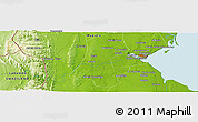 "Physical Panoramic Map of the area around 26° 1' 26"" S, 32° 22' 30"" E"