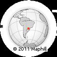 Outline Map of Pérola D'Oeste, rectangular outline