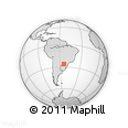 Outline Map of Colonia Delicia, rectangular outline