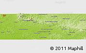 Physical Panoramic Map of Colonia Escalada