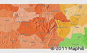 Political 3D Map of Colonia Aca-Yuasa