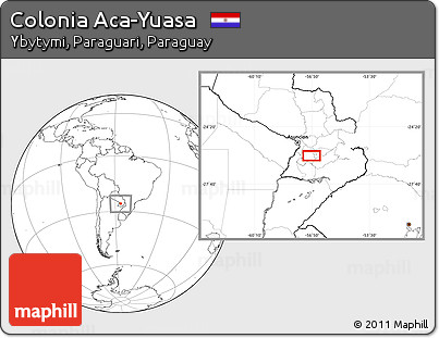 Blank Location Map of Colonia Aca-Yuasa