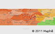 Political Panoramic Map of Carapeguá