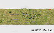 Satellite Panoramic Map of Carapeguá