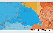 Political 3D Map of Puerto Dalmacia