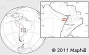 Blank Location Map of San Hilario
