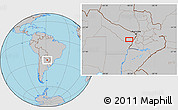 Gray Location Map of San Hilario