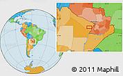 Political Location Map of San Hilario
