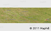 Satellite Panoramic Map of San Hilario