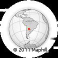 Outline Map of Los Tigres, rectangular outline