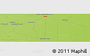 """Physical Panoramic Map of the area around 26°1'26""""S,62°49'30""""W"""