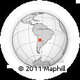 Outline Map of El Tala, rectangular outline