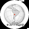 Outline Map of Cafayate, rectangular outline