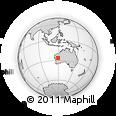 Outline Map of Meekatharra, rectangular outline
