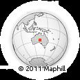 Outline Map of Australia, rectangular outline
