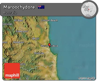 Free Satellite Map of Maroochydore
