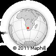 Outline Map of Rietfontein, rectangular outline