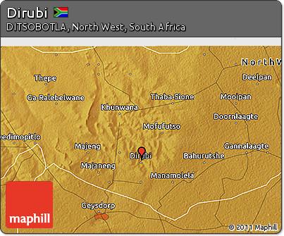 Free Physical 3D Map of Dirubi