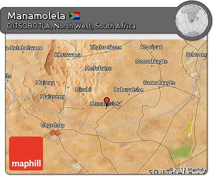 Free Satellite 3D Map of Manamolela