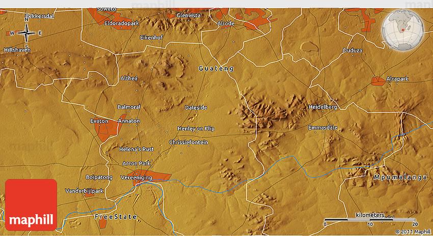 Physical 3D Map of Katlehong