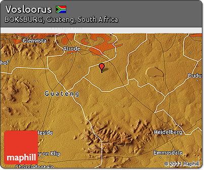 Free Physical D Map Of Vosloorus - Vosloorus map