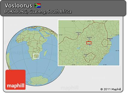 Free Savanna Style Location Map Of Vosloorus - Vosloorus map