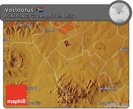 Free Physical Map Of Vosloorus - Vosloorus map