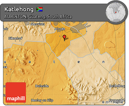 Free Political Map of Katlehong