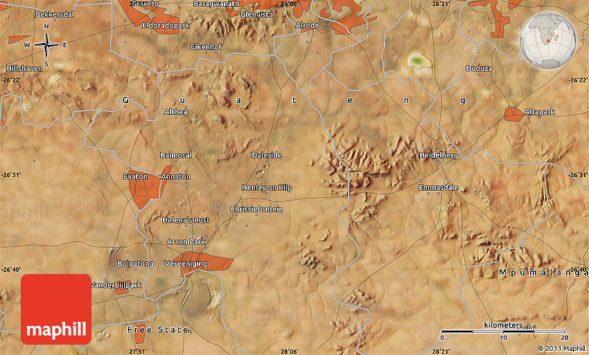Satellite Map of Katlehong