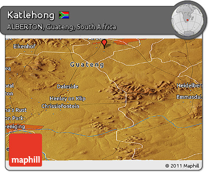 Free Physical Panoramic Map of Katlehong