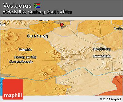 Free Political Panoramic Map Of Vosloorus - Vosloorus map