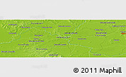 """Physical Panoramic Map of the area around 26°30'51""""S,56°52'30""""W"""