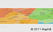 """Political Panoramic Map of the area around 26°30'51""""S,56°52'30""""W"""