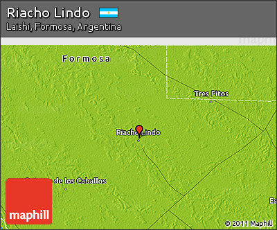 Physical 3D Map of Riacho Lindo